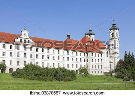 """Picture of """"Ottobeuren Abbey, Unterallgau, Swabia, Bavaria."""