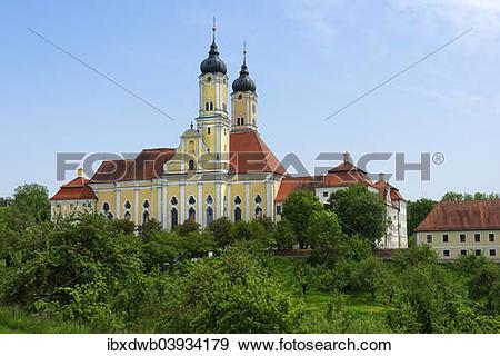 "Stock Photograph of ""Roggenburg Abbey, Premonstratensian canonry."