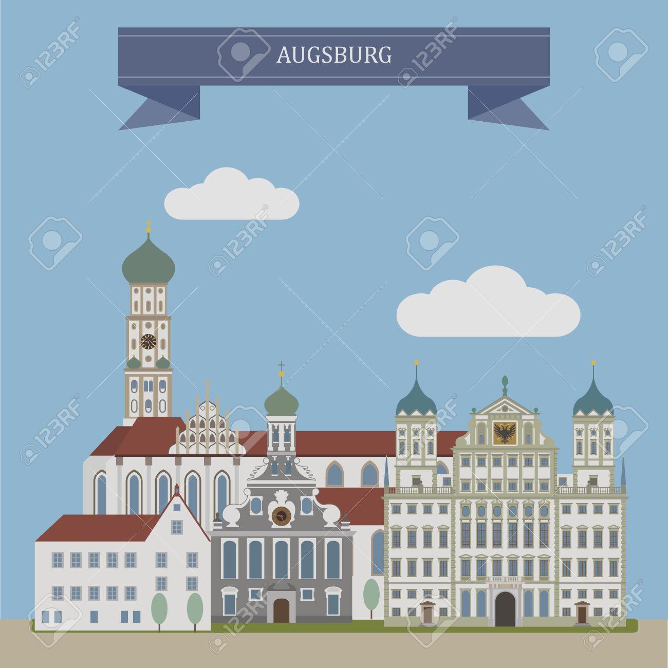 Augsburg, City In Swabia, Bavaria, Germany Royalty Free Cliparts.