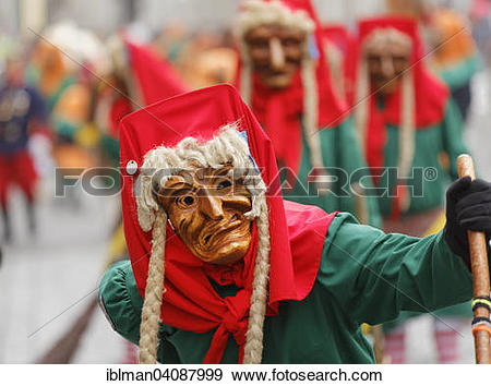 Stock Photograph of Narrenzunft Laudonia Lauingen carnival society.
