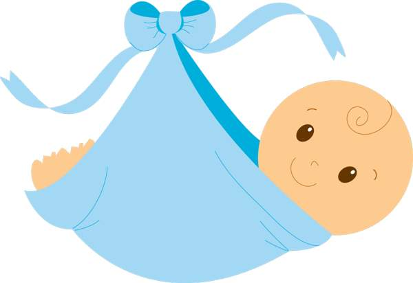 Swaddled baby boy free clip art clipartcow.
