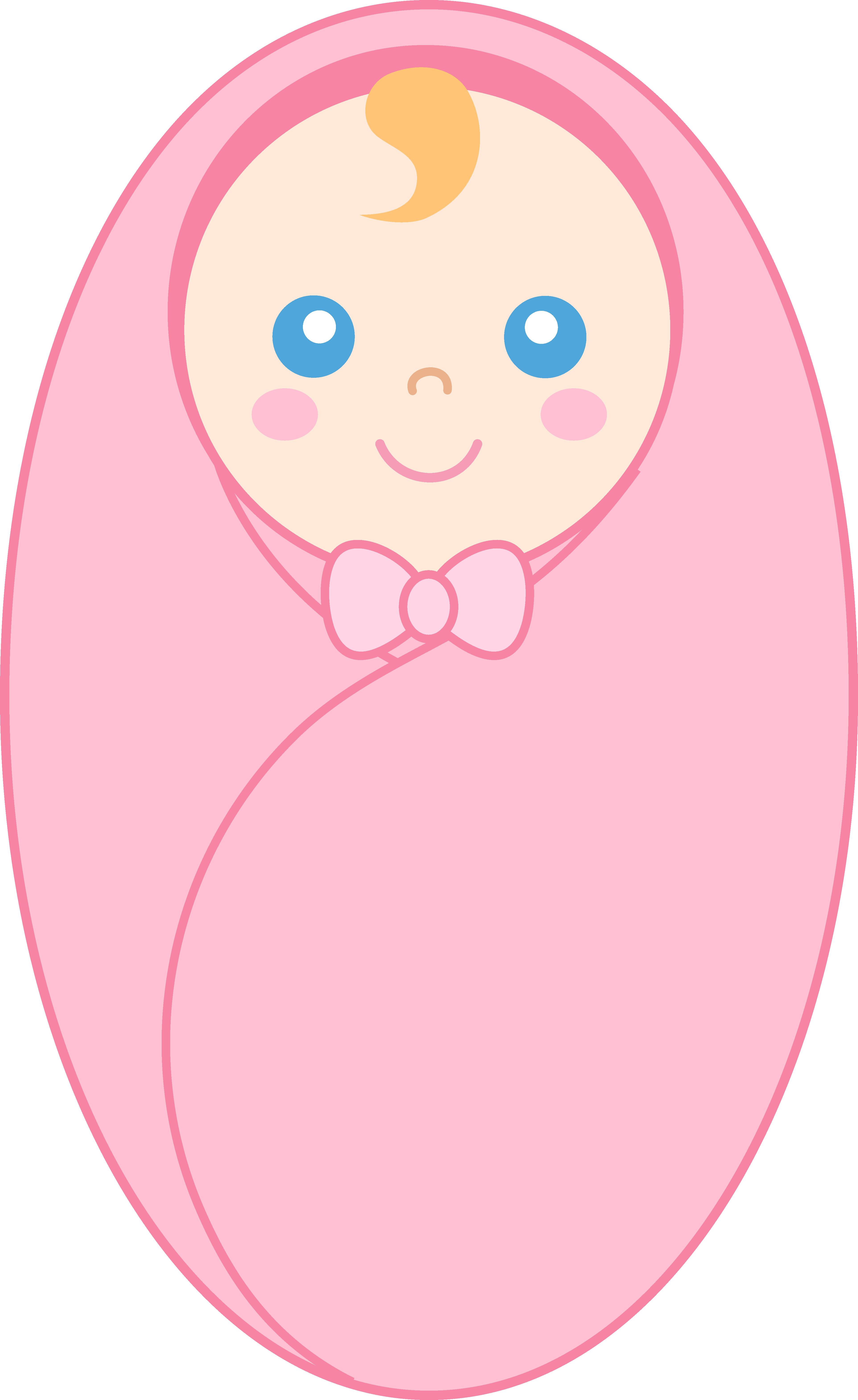 Swaddled Baby Girl.