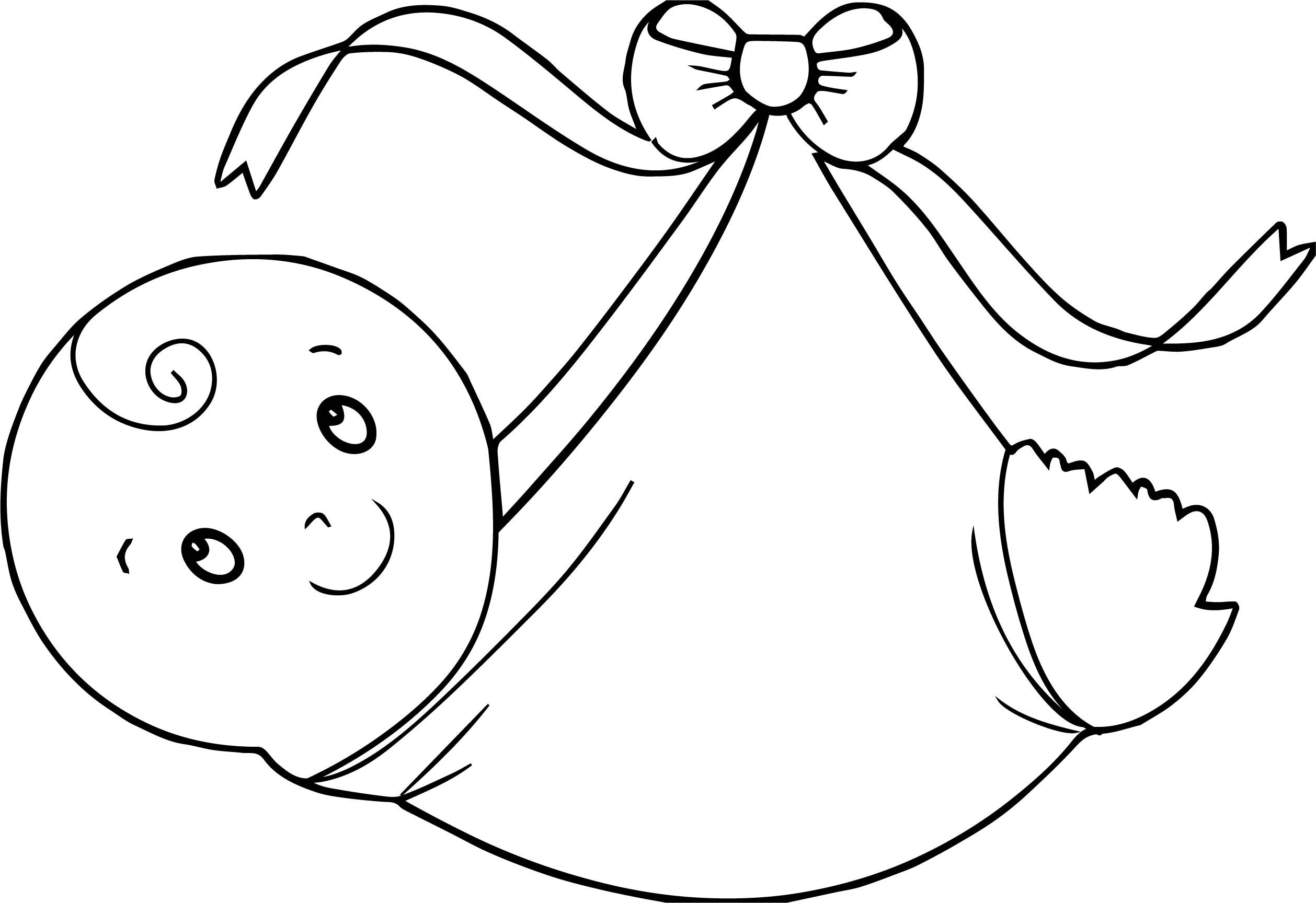 Swaddling Clothes Baby Boy Coloring Page.