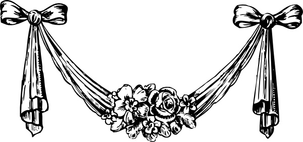 Decorative Swag clip art Free vector in Open office drawing.