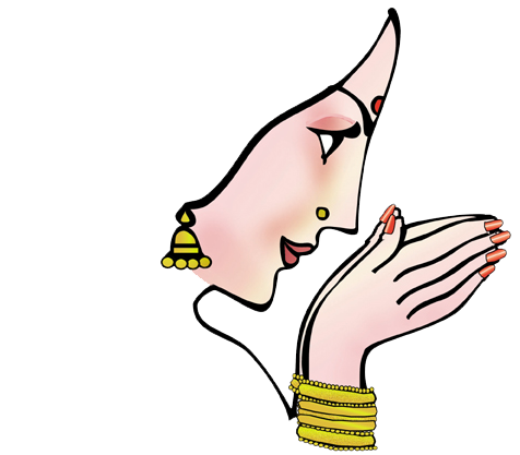 Swagat Lady Clipart.