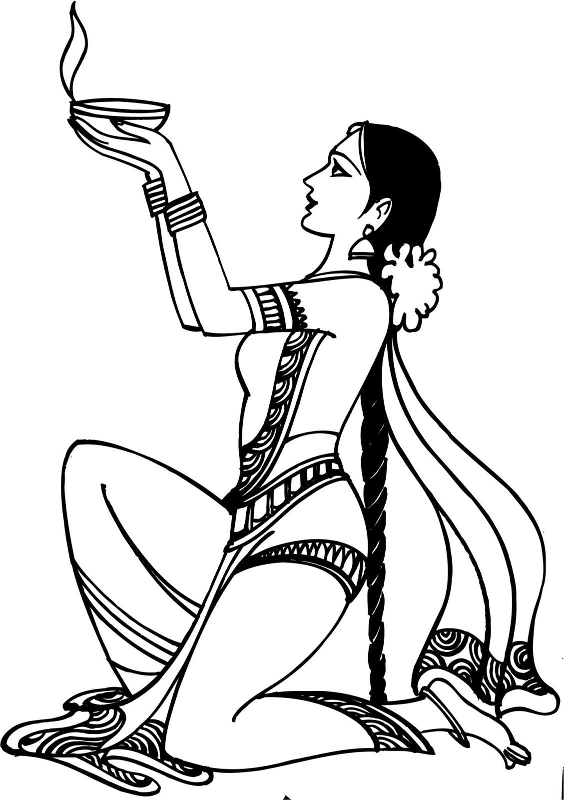 ADPLUS: Hindu Swagat abhinandan Clip Art.