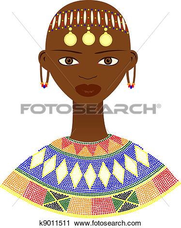 Clipart of Tribe women. k9421640.