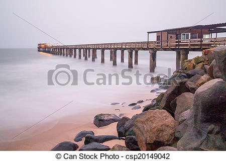 Stock Photo of Pier at swakopmund in namibia.