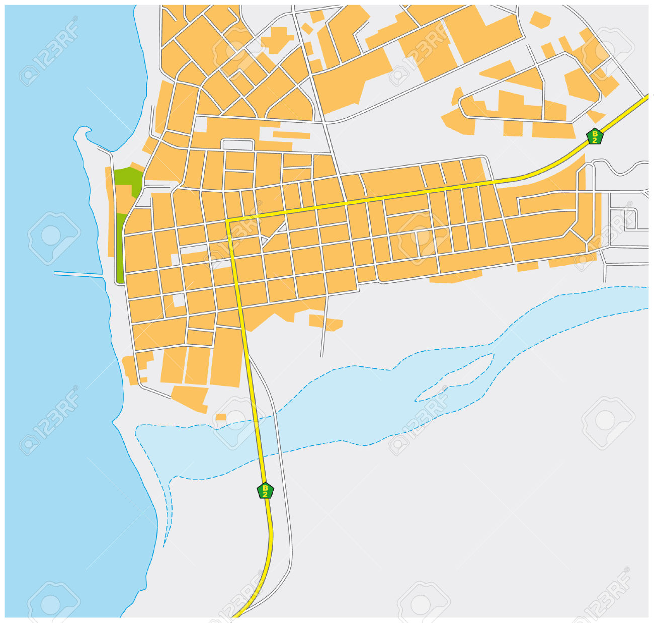 Swakopmund City Map Royalty Free Cliparts, Vectors, And Stock.