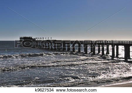 Stock Photo of Old jetty in Swakopmund Namibia k9627534.