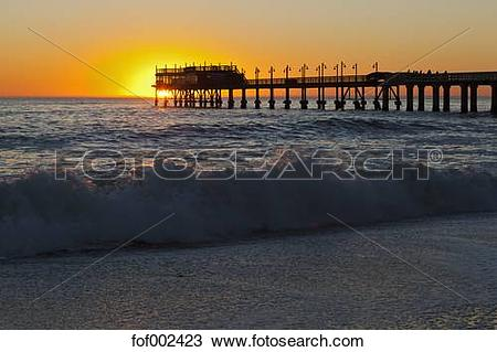 Stock Photo of Africa, Namibia, Namib Desert, Swakopmund, View of.