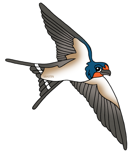 Free Animals Clip Art by Phillip Martin, Barn Swallow.