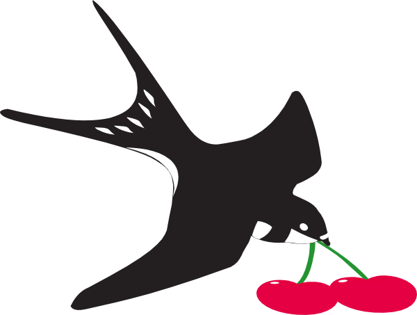 Cherry Bird Swallow Clip Art at Clker.com.