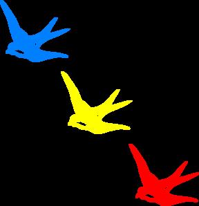 Colored Swallows Clip Art at Clker.com.