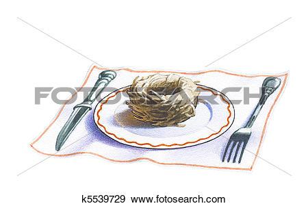 Stock Illustration of Swallow's nest k5539729.
