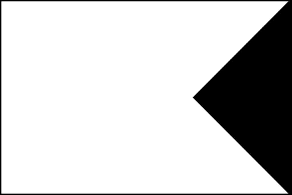 White flag shape swallowtail clipart.