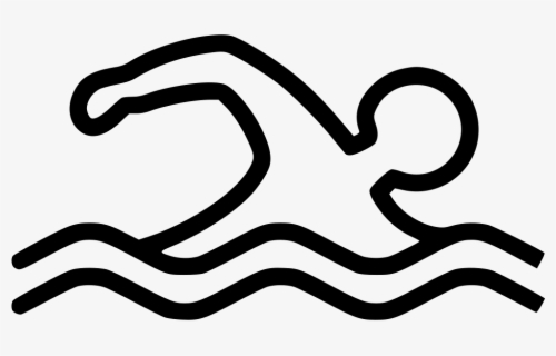 Free Swim Black And White Clip Art with No Background.