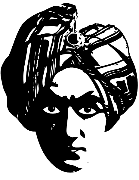 Spooky Person Head Turbine Clip Art at Clker.com.
