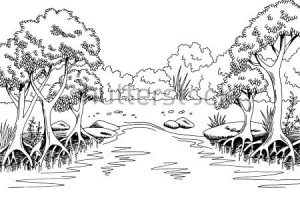 Swamp clipart black and white 1 » Clipart Station.