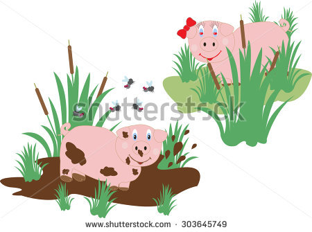 Lovers Pig Stock Photos, Royalty.