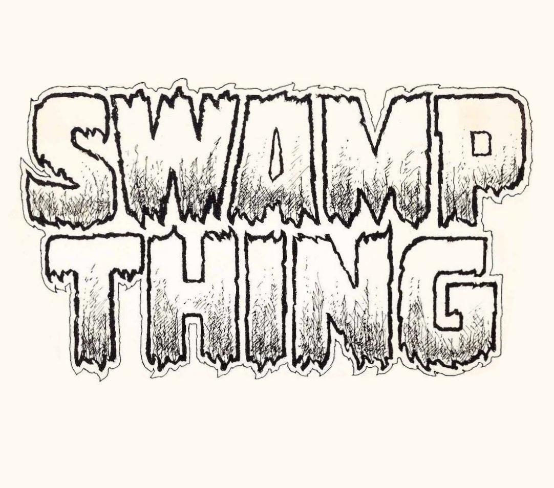 SWAMP THING comic book logo.