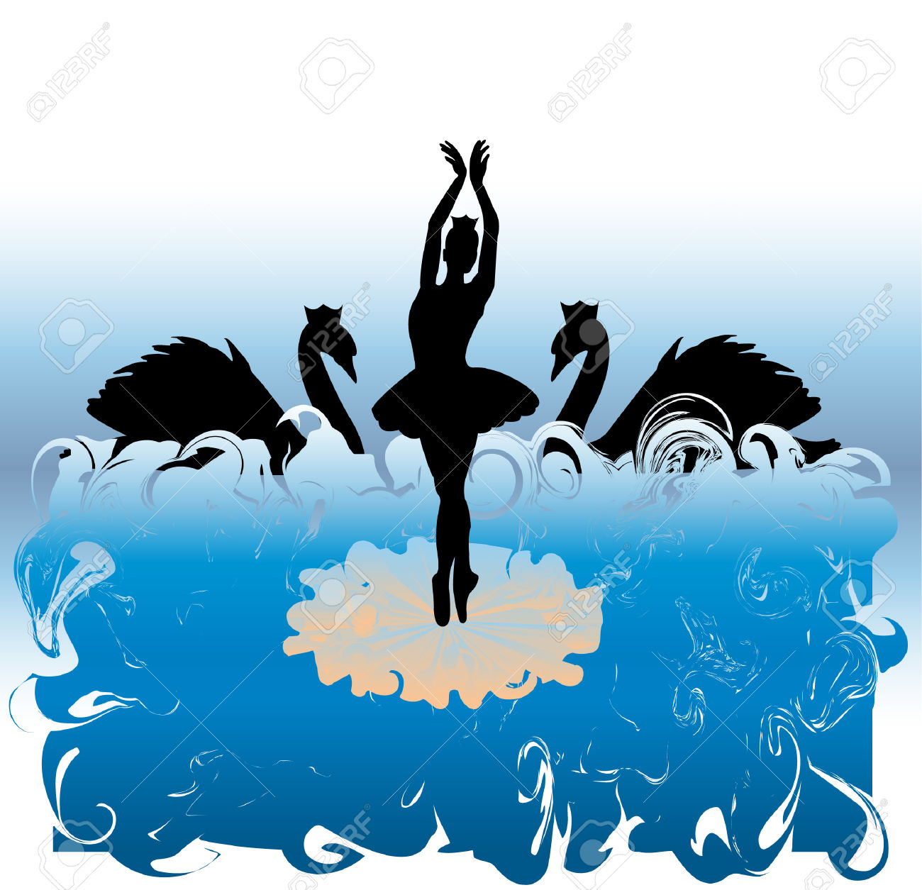 Silhouette Of Ballet Dancer Royalty Free Cliparts, Vectors, And.