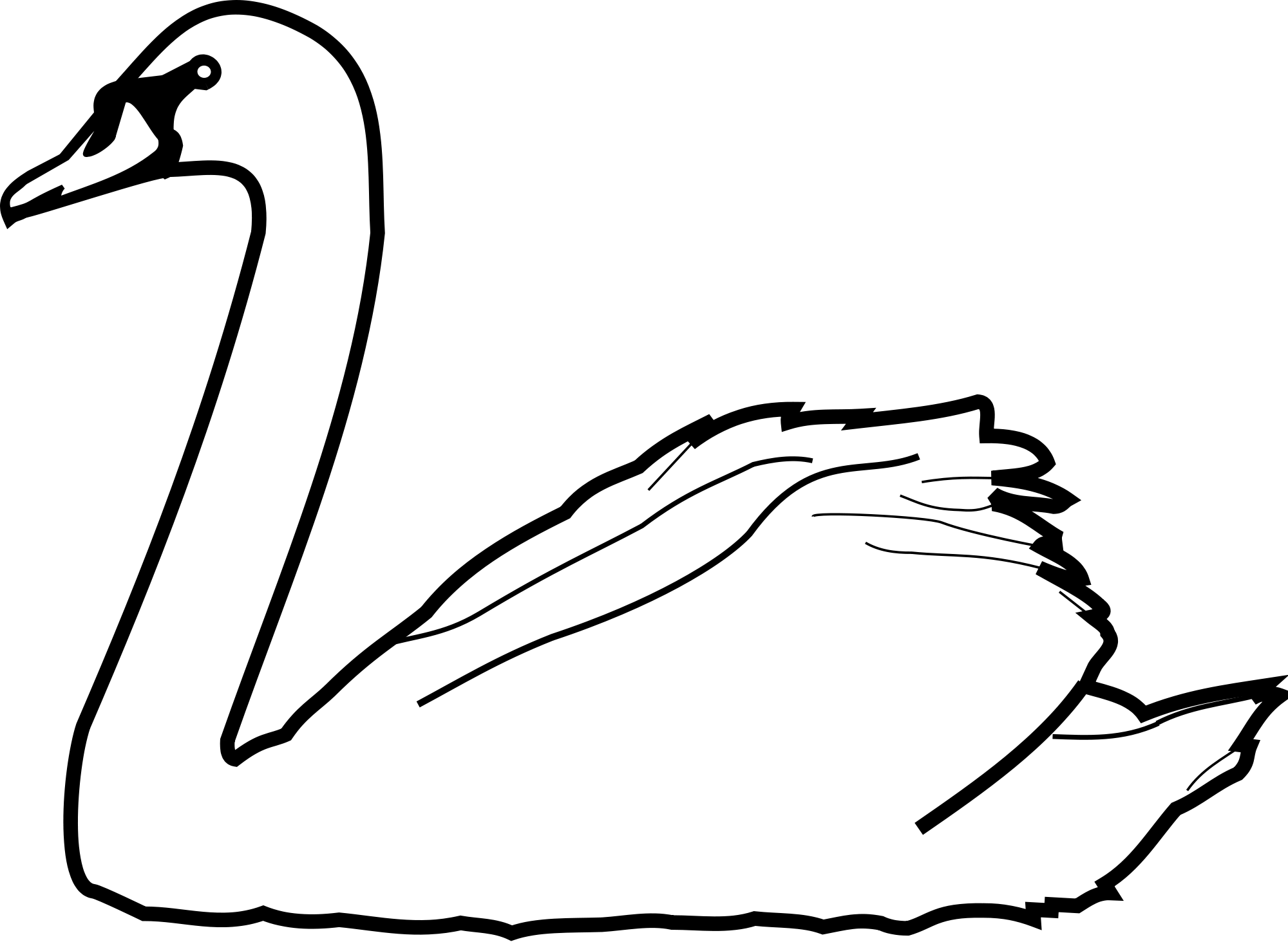 Swans Drawing At Getdrawings.
