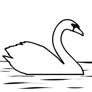 Swan Clipart Black And White.