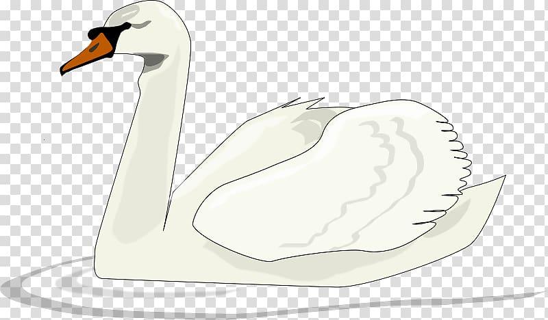 Black swan Swan Lake , Cartoon Swan transparent background.