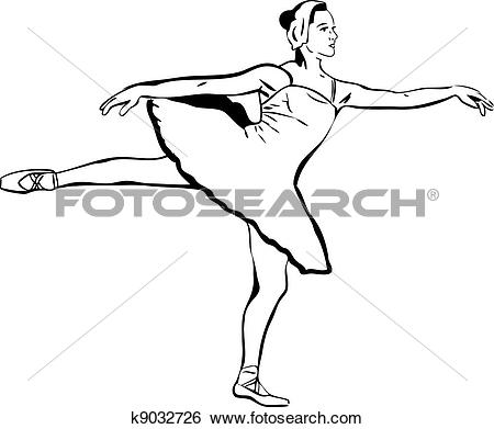 Clip Art of actress a ballet.