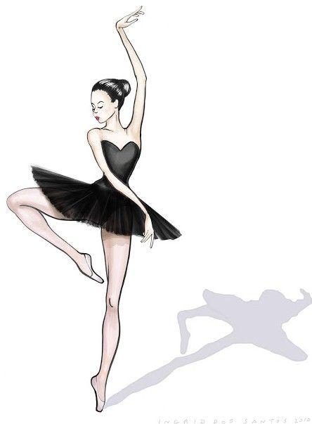 Ballerina Silhouette Vector Clip Art.