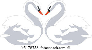 Swan heart Clipart and Illustration. 532 swan heart clip art.