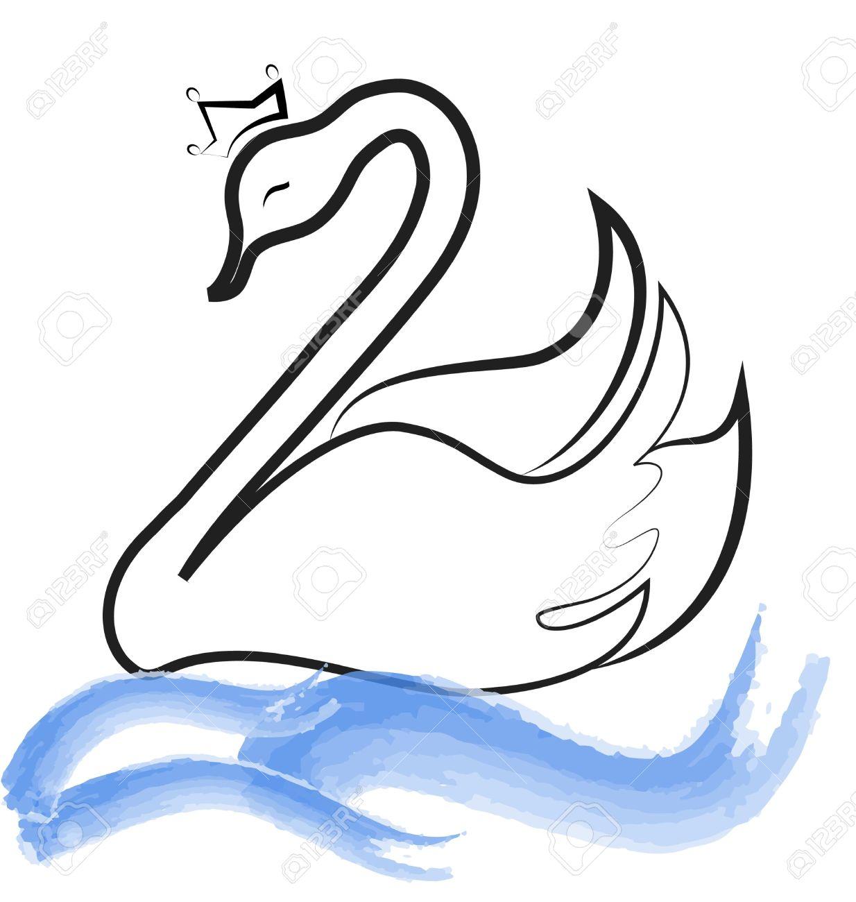 Clipart swan lake.