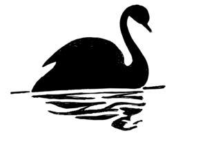 Swan Silhouette Clip Art at Clker.com.