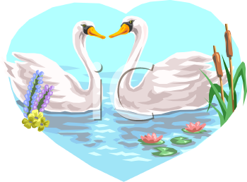 Swan Lake Clipart Swan mirror clipart - ...