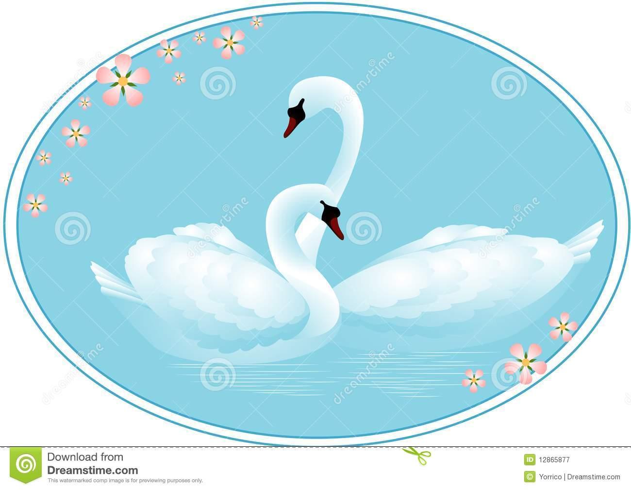 Swan love clipart.