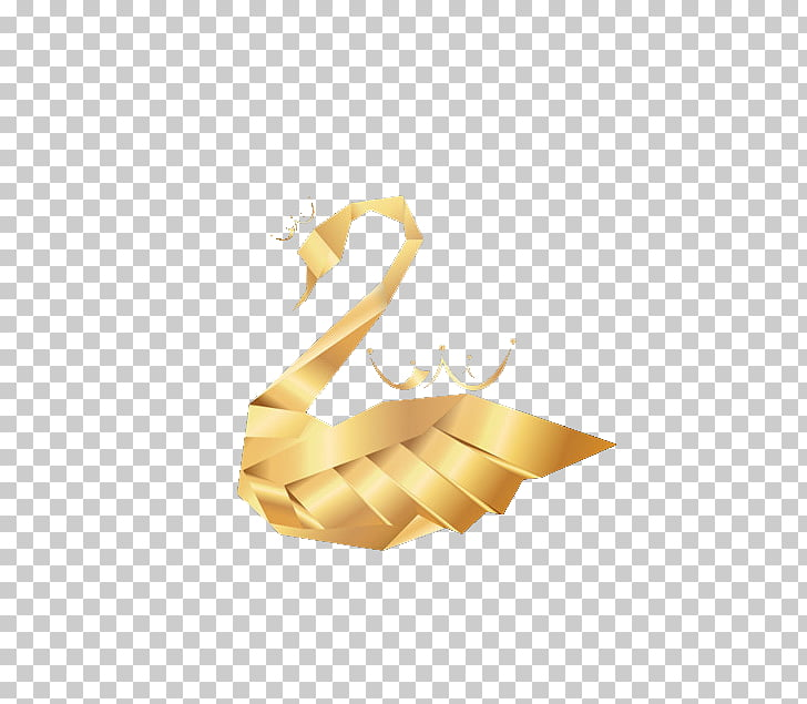 Swan Icon, Golden Swan Crown, brown woven swan PNG clipart.