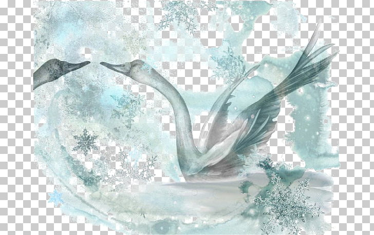 Illustrator Watercolor painting Illustration, Swan.