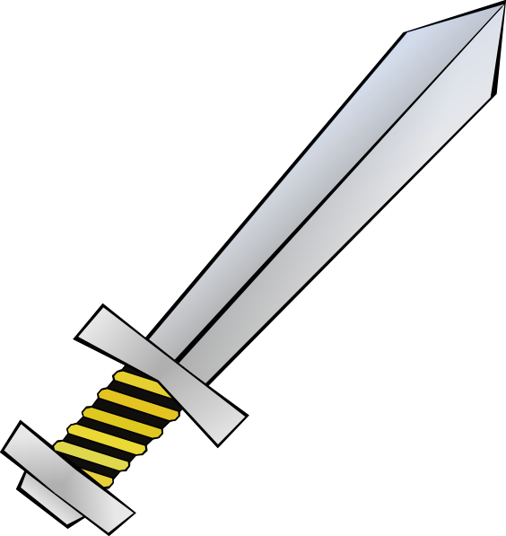 Sword Black And White Clipart.