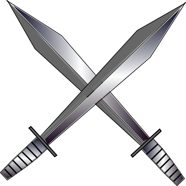 Crossed Sword Clipart.