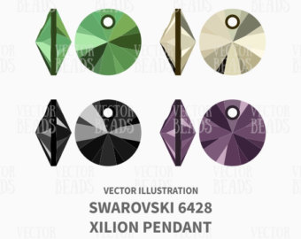 Swarovski 5810 Round Bead Clip Art Set Vector by VectorBeads.