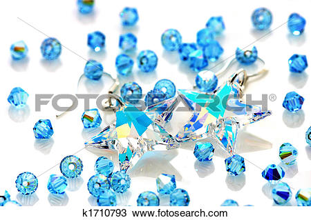 Stock Photo of Swarovski Earrings And Beads k1710793.