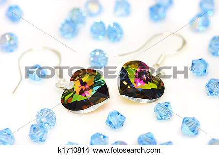Stock Photo of Swarovski Earrings And Beads k1710814.