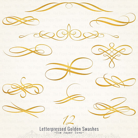 Swashes swirls clipart transparent background.