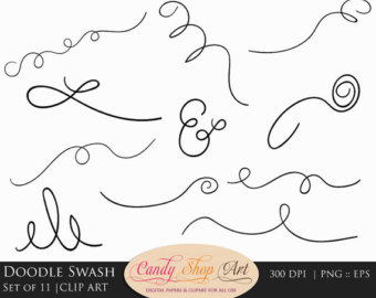 Decorative Swashes Swirls Calligraphy Swashes Clip Art.