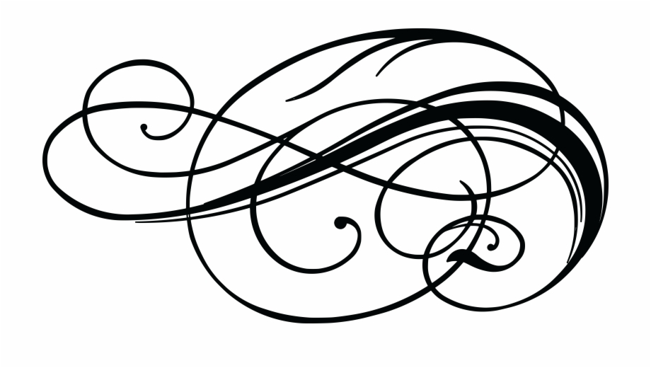Swashes Vector Swirl Decoration.