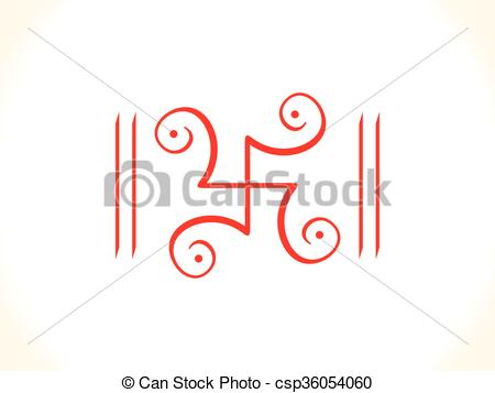 Red Swastik Clipart.