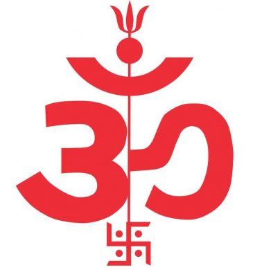 Om And Trishul Symbol.