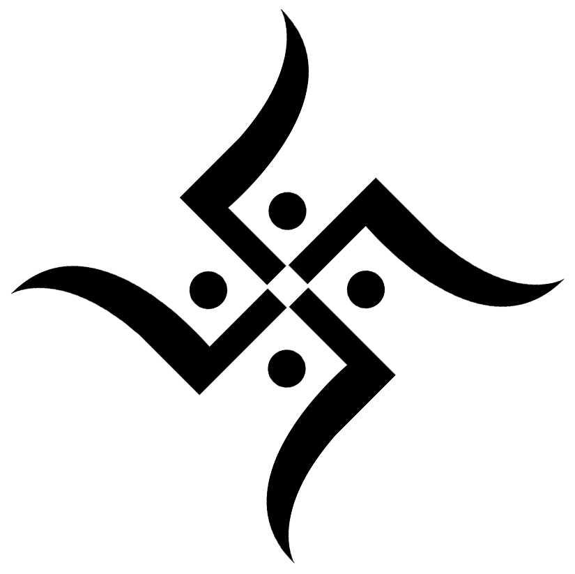 Swastik logo clipart.