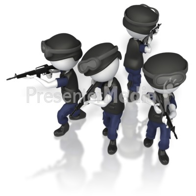 Swat Figure Icon.